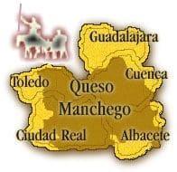Mapa Castilla La Mancha de Don Quijote y Sancho