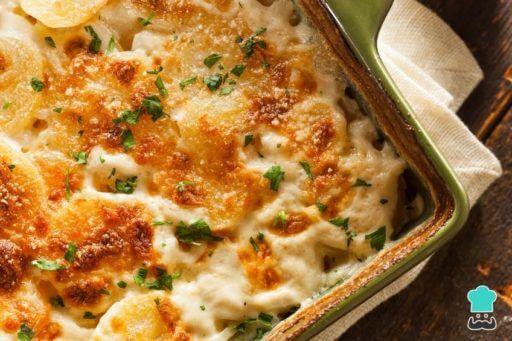 patata gratinada con queso manchego