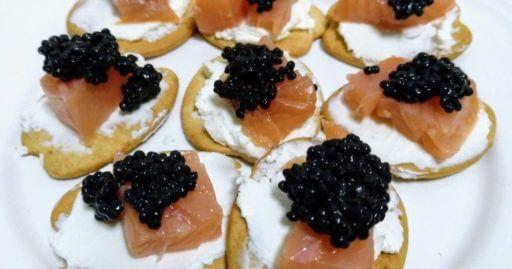 queso manchego y caviar
